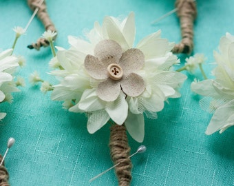 Rustic Boutonniere for Country Wedding