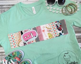 PINK CAMPER t-shirt