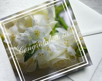 Flower greeting card - wedding