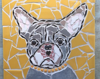 French Bulldog Mosaic Wall Art