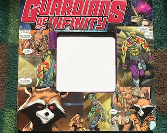 Guardians of Infinity inspired Themed Square Decoupage Picture Frame