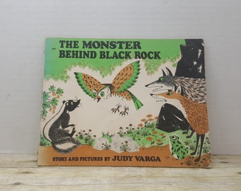 The Monster Behind Black Rock, 1971, Judy Varga, vintage kids book