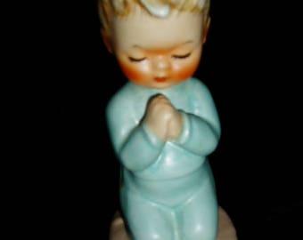 50s GOEBEL Boy Praying Charlotte BYJ Bless Us All W. Germany
