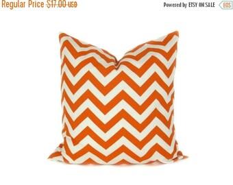 15% Off Sale Orange Pillow Cover,Decorative Pillow Orange throw pillows  Orange Cream Chevron Pillow Couch Pillows Accent Pillow Housewares