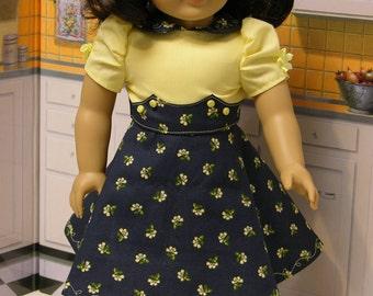 Morning Tea - vintage dress for American Girl doll