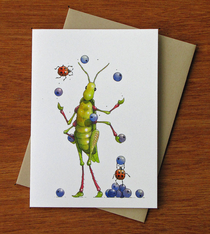 Greeting Card Juggle Hopper A High Quality Whimsical Image
