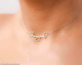 Custom Name Necklace Silver- Chokers for Women - Dainty Silver Choker - Choker Name Necklace - Layered Choker Necklace - Bridesmaid Gift
