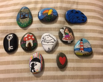 Story stones set, healing, bespoke, hand painted, unique gift