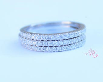 Stackable Rings, Wedding Set, Wedding Stackable Rings, Wedding Ring, Silver Rings