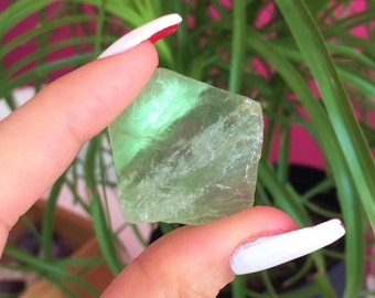 Green Fluorite RAW Healing Crystals and Stones