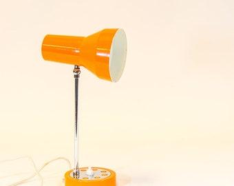 70's orange desk lamp