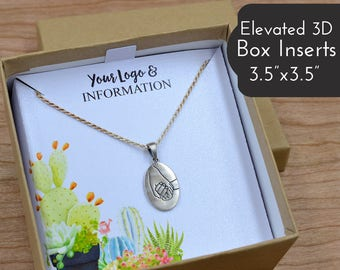 "Elevated Jewelry Box Inserts | 24 QTY | FITS 3.5""x3.5"" Jewelry Boxes 