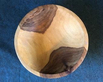 Vintage Primitive Wooden Dough Bowl