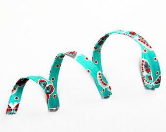 Skinny Headband, Wired Headband, Headband, Hair Accessories, Thin Headband, Twist Tie Headband, Women's Headband, Turquoise with Butterflies