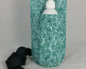 Massage Therapy single 8oz lotion bottle hip holster, NO BACK POCKET, Hidden faces, black belt
