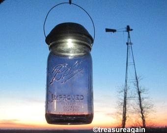 Purple Solar Mason Jar Light 4x Brighter Solar Lid Quart New Purple Ball Vintage Style Hanging Outdoor Mason Jar Solar Light