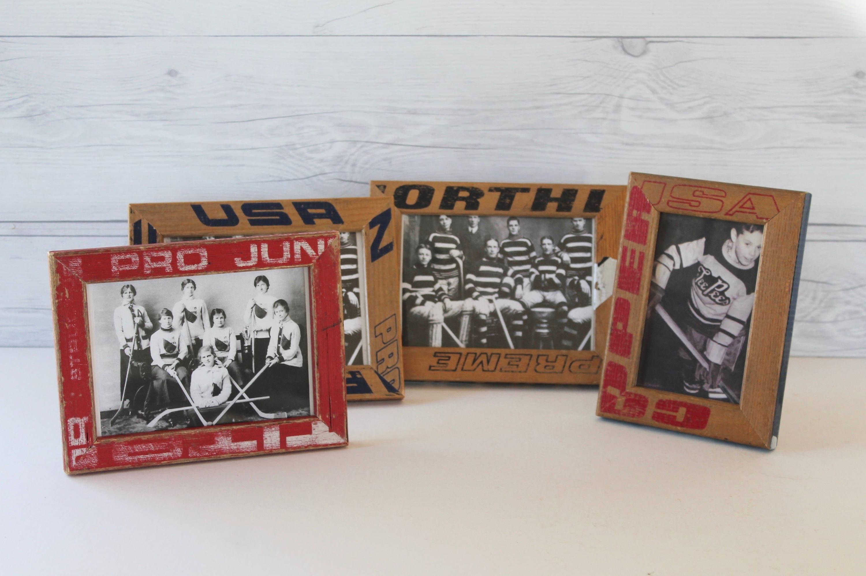 Repurposed Vintage Wooden Hockey Stick Frame - Sold Separately ...