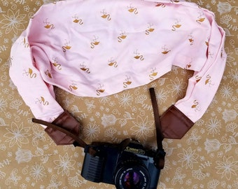 Flamingo Camera Strap, Scarf Camera Strap, Camera Strap for Summer, dslr Camera Strap, Camera Neck Strap, Camera Accessories, Photography