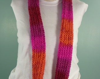 Knit Infinity Scarf, Pink Infinity Scarf , Knit Loop Scarf, Neck Warmer, Fashion Scarf, Womans Knit Scarf, Knit Circle Scarf - Ready to Ship