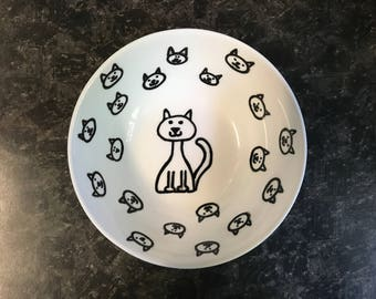 Cat pet bowl Round