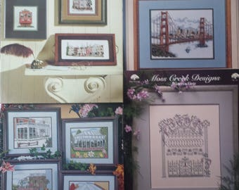 San Francisco, Greenhouses Counted Cross Stitch Booklets, Set of 4