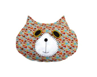 2.5 lb Weighted Flat Cat, Sensory Processing, Pillow, Hot Cold Rice Bag, Microwave Comfort Pillow, Weighted Lap Pad, Therapy Pillow, Orange