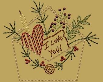 Love Letter- Version 2 - 4x4--INSTANT DOWNLOAD