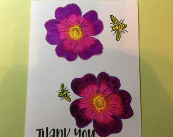 Thank You Card Wild Roses