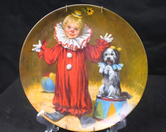 Tommy The Clown Limited Edt. Collectors Plate John McClelland 1982