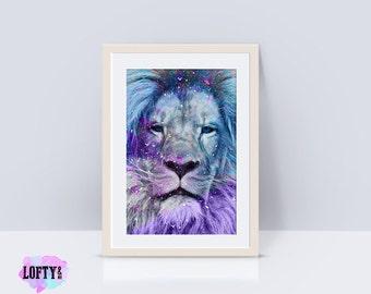 Lion print, Animal, Minimalist, Minimal, Scandinavian, Modern art, Wall decor, Digital art, Printable, Digital poster Instant Download, lion