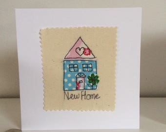 New Home  free motion machine embroidery Card