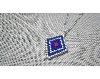 There necklace glass beads Japanese miyuki