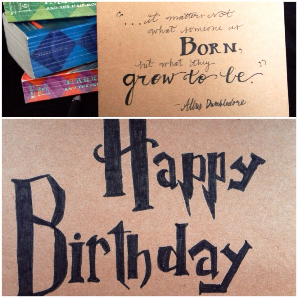 Harry potter birthday card dumbledore quote it matters zoom bookmarktalkfo Images