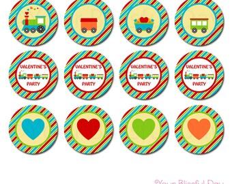 PRINTABLE Valentine's Train Party Circles