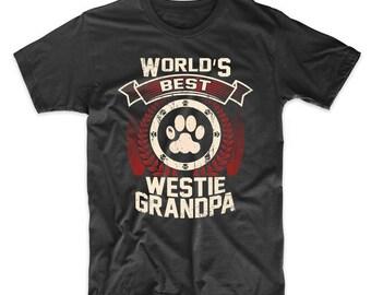 World's Best Westie Grandpa Graphic T-Shirt