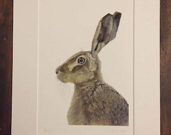 A4 Hare Print