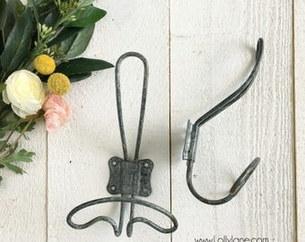Farmhouse Vintage Zinc Wire Wall Coat Hook Rustic Wire Wall Hook Rack Seperates