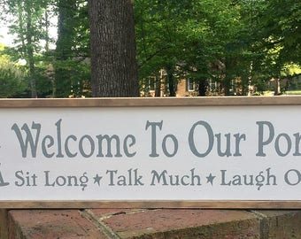 """Porch Sign. Welcome Sign. Front Porch Sign. Farmhouse Porch Sign. Front Porch Decor. Country Home Decor. """"OUR Porch"""" or """"MY Porch""""."""