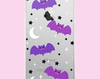 Pastel Goth Baby Bats Clear iPhone Case -  5/5s/Se, 6/6s, 6/6s Plus, 7, 7 Plus