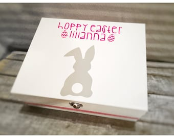 Personalised wooden Easter boxes