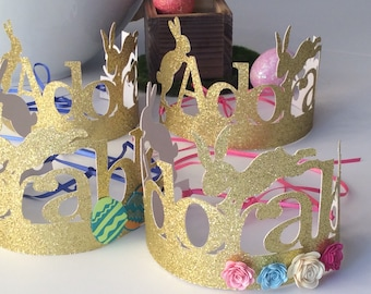 Easter Crowns, Handcrafted in 1-3 business days, Easter Bunny Hats, Kids Easter Crowns, Kids Easter Hats, Easter Party Hats