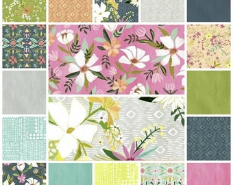 Blush & Blooms Fat Quarter Bundle by Iza Pearl for Windham Fabrics, 18 Fat Quarters Bundle, Blush and Blooms Fabrics, Iza Pearl Fabrics