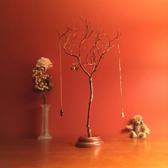 Copper painted Manzanita jewelry tree Manzanita Jewelry