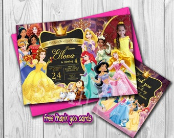 Princess Invitation Princess Birthday Invite personalized