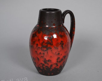 Red / brown West German pottery vase by Scheurich 414-16