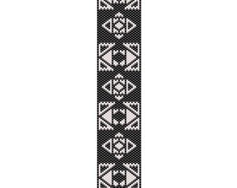 Aztec Dreams Peyote Cuff Bracelet Pattern
