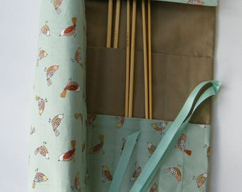 Straight Knitting needle organiser. Knitting needle roll.