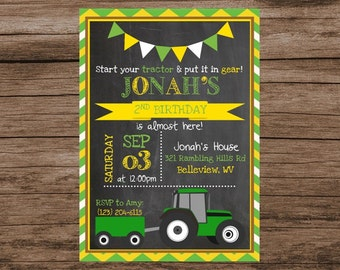 Tractor birthday invitation tractor invitation john tractor birthday invitation start your tractor get in gear john deere birthday filmwisefo Choice Image