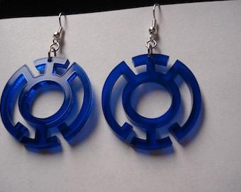Blue or Yellow Lantern Inspired Earrings