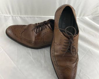 Men's Stacy Adams - Brown Leather - Brogue / Wingtip Shoes - Size: 10.0D